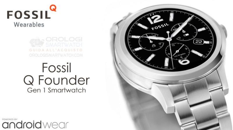 Scheda Tecnica Fossil Q Founder Gen 1 Smartwatch