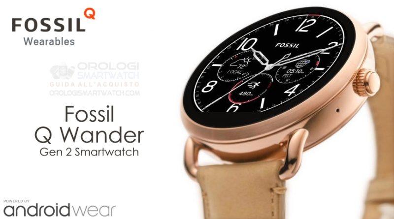 Scheda Tecnica Fossil Q Wander Gen 2 Smartwatch