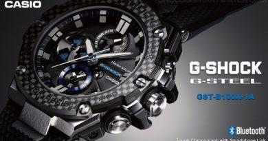 Casio lancia la versione in fibra di carbonio del suo G-Shock G-Steel GST-B100