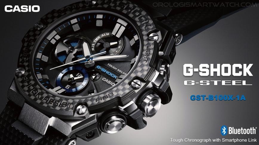 37bdd407f307 Casio lancia la versione in fibra di carbonio del suo G-Shock G-Steel  GST-B100