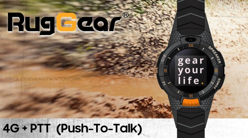 RugGear presenta uno smartwatch con 4G e tecnologia Push-To-Talk