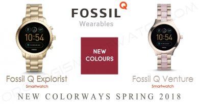 Fossil, due nuovi colori per Q Venture e Q Explorist