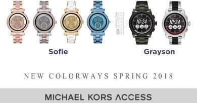 Nuovi colori per Michael Kors Access Grayson e Sofie Collezione Primavera 2018