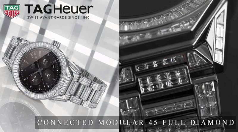 Tag Heuer presenta la versione Full Diamond del Connected Modular 45