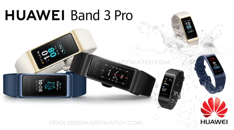 Scheda Tecnica Huawei Band 3 Pro Smartband