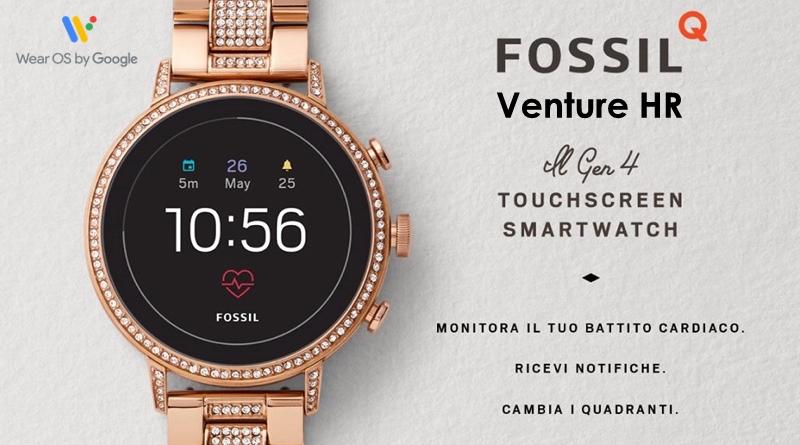 Scheda Tecnica Fossil Q Venture HR Gen 4 Smartwatch