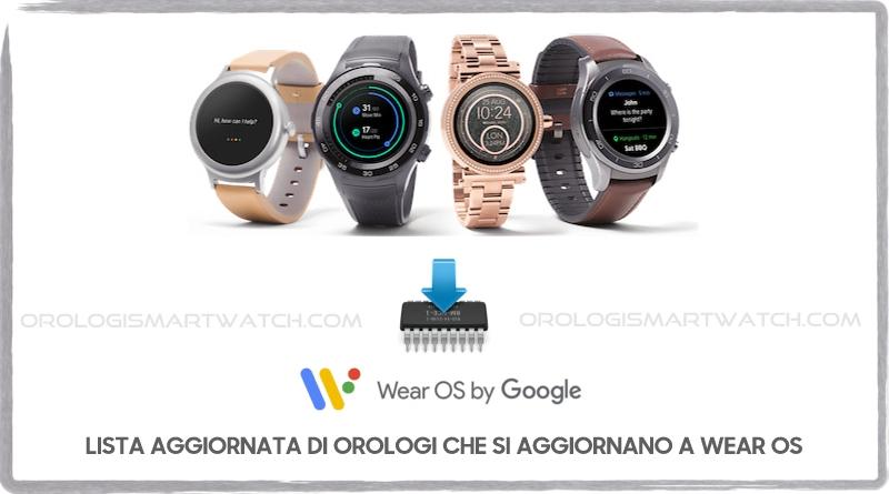 Lista aggiornata degli orologi smartwatch che si aggiornano a Wear OS
