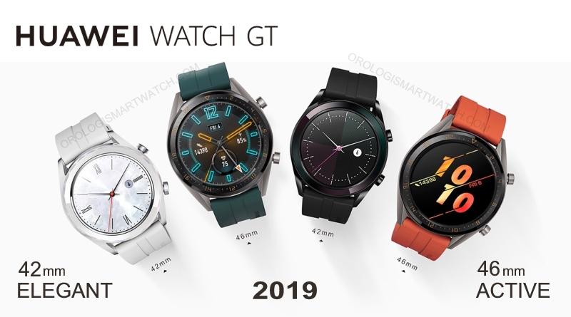 Huawei amplia la lineup di wearable con Huawei Watch GT Active e Elegant