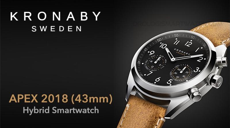 Scheda Tecnica Kronaby Apex 2018 43mm Hybrid Smartwatch