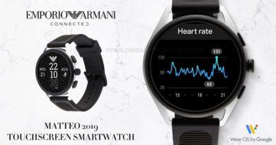 Scheda Tecnica Emporio Armani Connected Smartwatch Matteo 2019